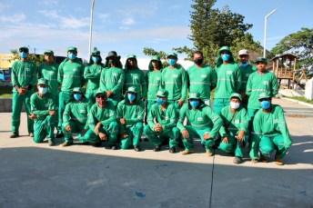 lajedao prefeito tonzinho limpeza publica prefeitura gari entrega de uniforme caminhao tele entulho compactador (8)