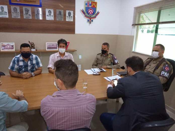 Porto Seguro: Comando do 8º BPM se reúne com representantes da Polícia Civil e do Ministério Público