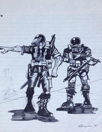 riot troops