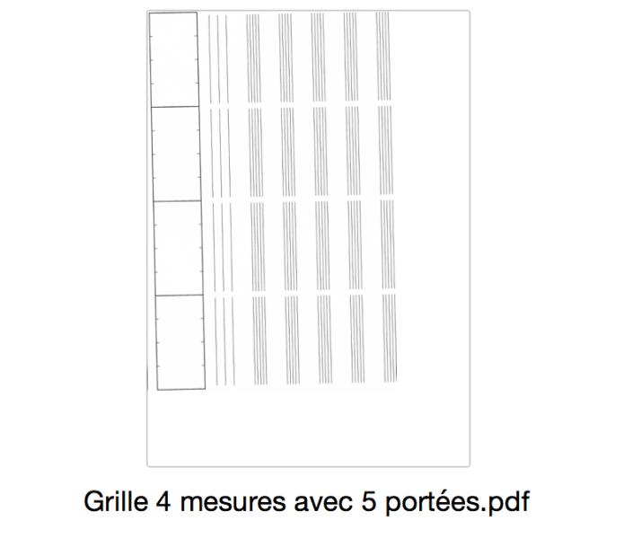 grille 4 mesures avec 5 portées