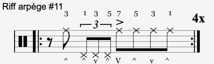 riff arpège #11