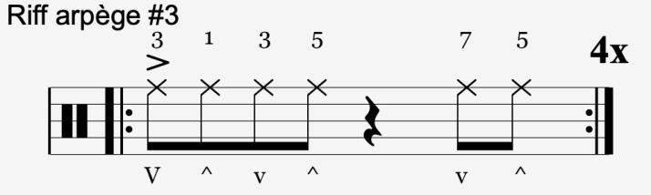 riff arpège #3