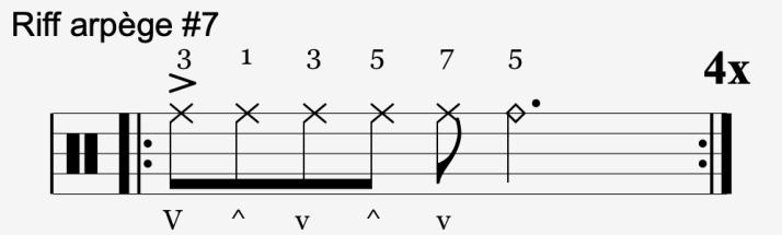 riff arpège #7