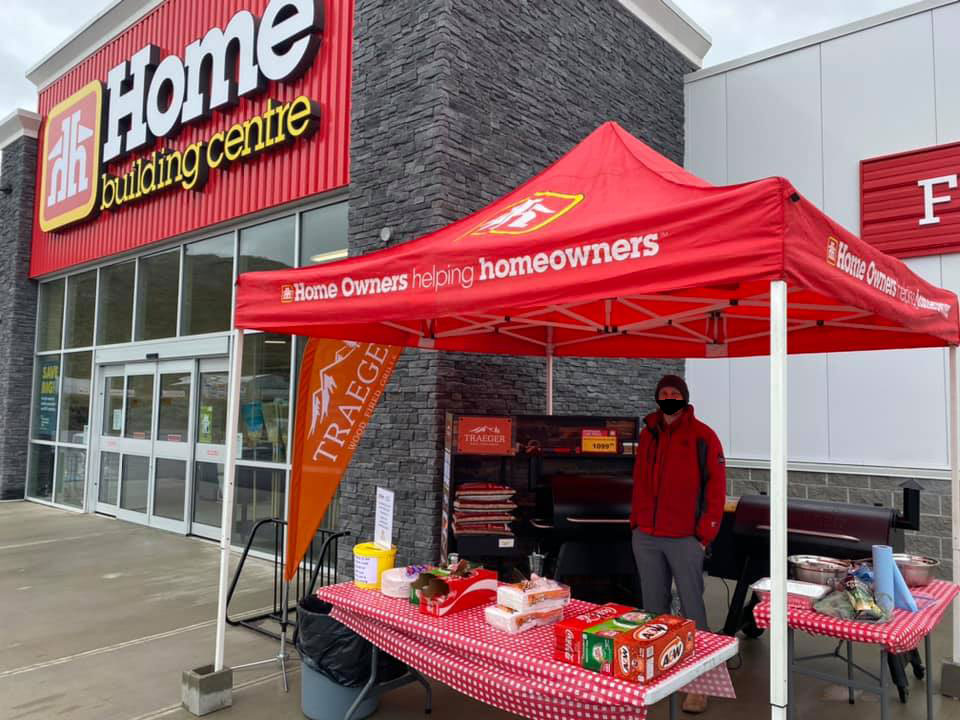 Community fundraisers in Osoyoos, Home Building Centre.
