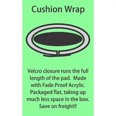 "Cushion Wrap Rack Pad 30"" 2"