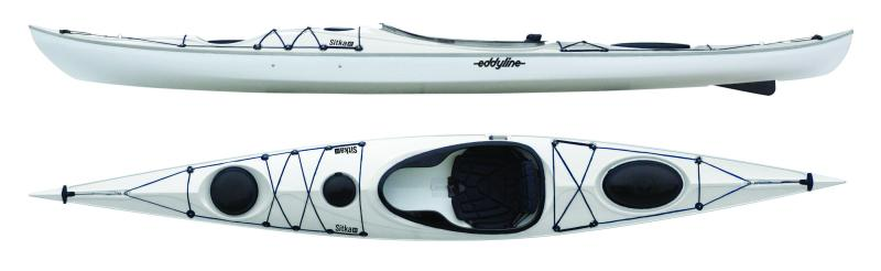 Top and side view of Eddyline Sitka XT kayak