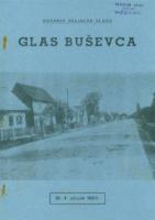 Ogranak Seljačke sloge – Glas Buševca br. 4