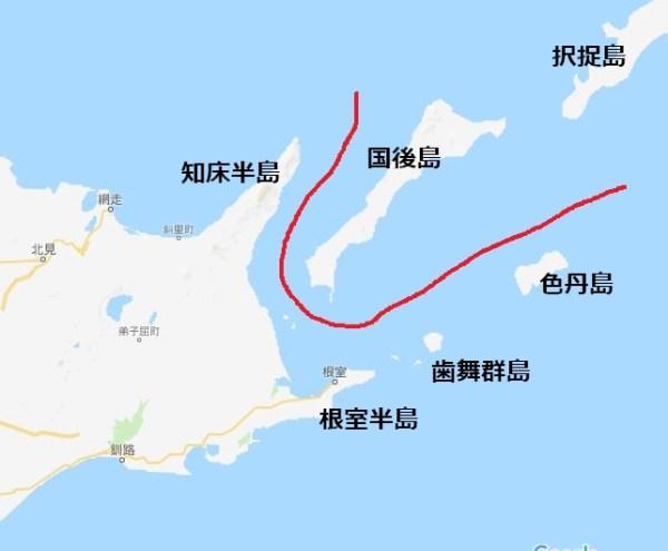 2島返還後の国境イメージ