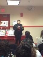 Lindsay reciting poem