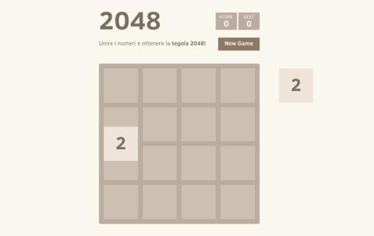 2048 gioco gabriele cirulli come funziona