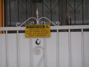 cancello area privata