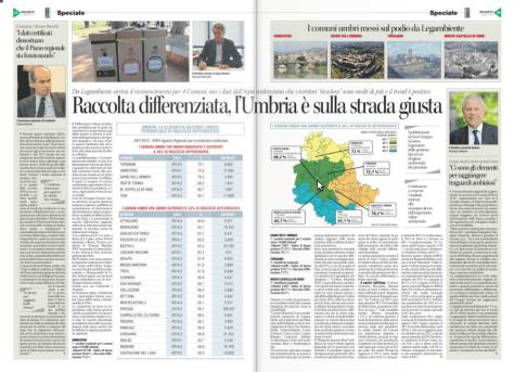 Paginone sul Corriere dell'Umbria del 31/07/2014