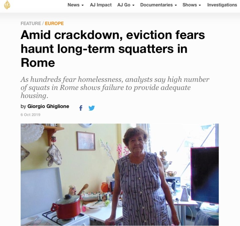 Amid crackdown, eviction fears haunt long-term squatters in Rome di Giorgio Ghiglione