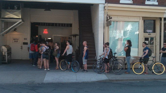 Long Weekend Bellwoods Beer line