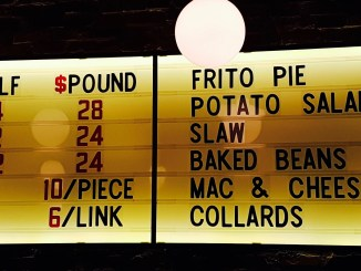 Smoke Signals Barbecue Menu Board