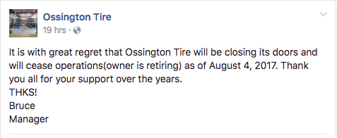Ossington Tire Is Closing