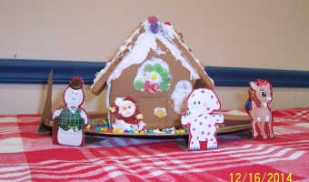 Gingerbread House made by teens at the Ossipee Public Library
