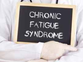 Doctor shows information: chronic fatigue syndrome