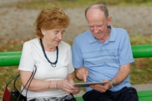 Senior Couple One May Have Alzheimer's