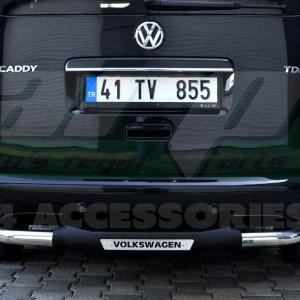 Bara protectie spate inox+ poliuretan Vw Caddy 2011+ cod AK025 Titanic