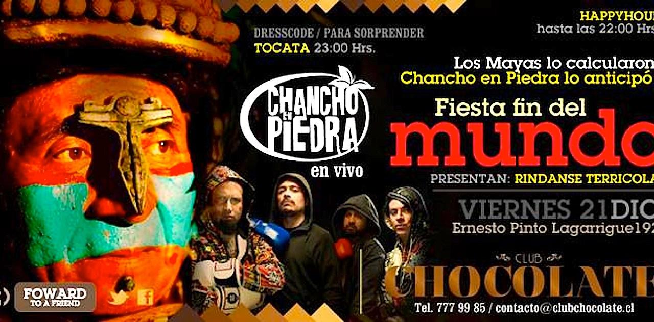 Chancho en Piedra: «RINDANSE TERRICOLAS» en vivo!