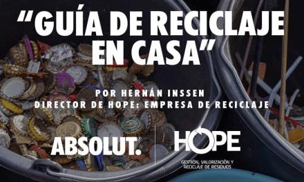 ABSOLUT CELEBRA EL RECICLAJE JUNTO A HOPE