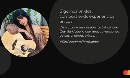 Camila Cabello se integra a la colección de experiencias digitales de Mastercard e interpretará nuevas versiones de sus conocidos éxitos