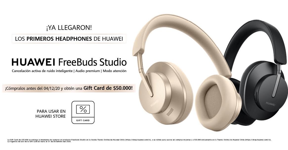 Sé parte de la preventa exclusiva de los nuevos HUAWEI FreeBuds Studio, los primeros headphones de la marca