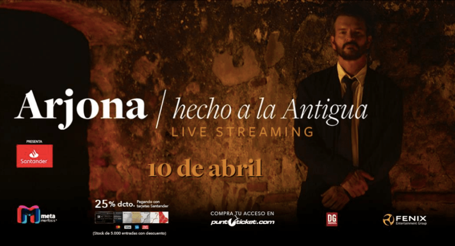 Andrés de León abrirá show streaming de Ricardo Arjona