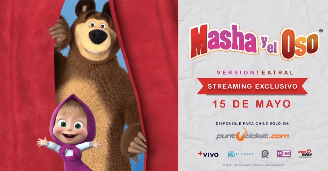 El Show Oficial de Masha y el Oso llega por primera vez Vía Streaming.