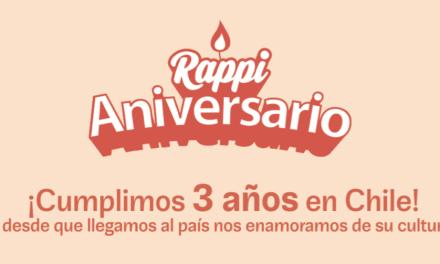 Rappi cumple 3 años en Chile
