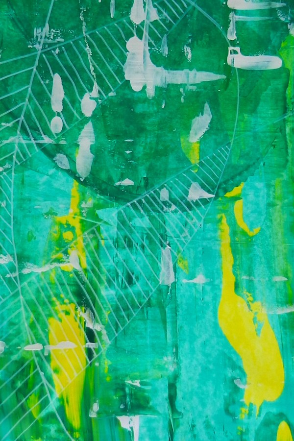 Intuitive Paintings: Marks on Large Greens