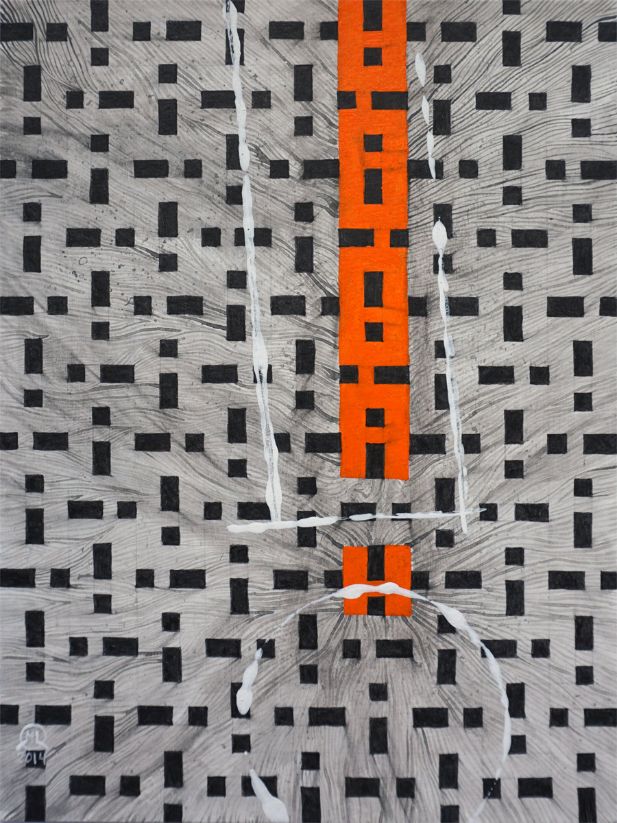 Exclamation 9 x 12 in. / 22,9 x 30,5 cm Acrylics on paper Martin Lukas Ostachowski