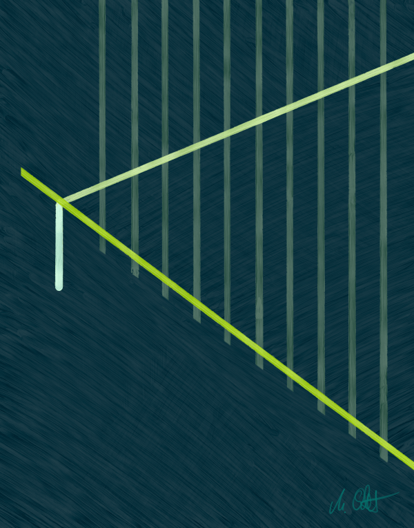 Tamed Lines Two (Diptych)