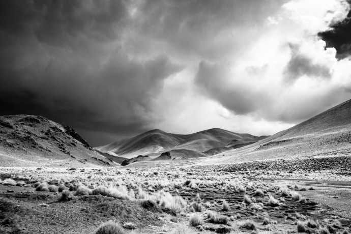 Argentina Altiplano during a storm