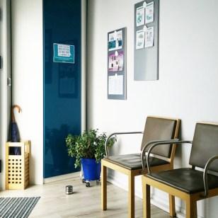 Cabinet salle d'attente bleue