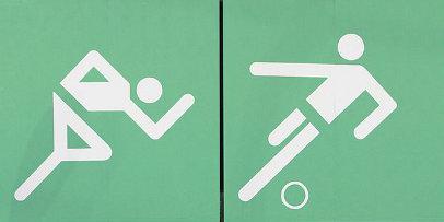 iconos de atletismo y futbol