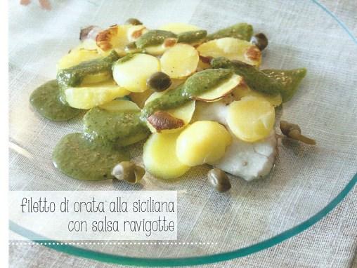filetto di orata alla siciliana con salsa ravigotte