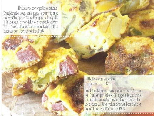 frittatine con cipolla e patate – frittatine con zucchine e salame piccante