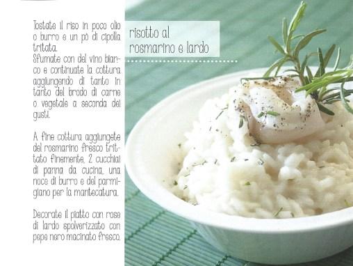 risotto rosmarino e lardo