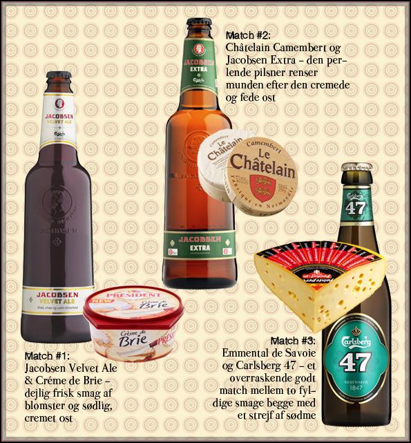 Tre af aftenens bedste kombinationer af øl og ost