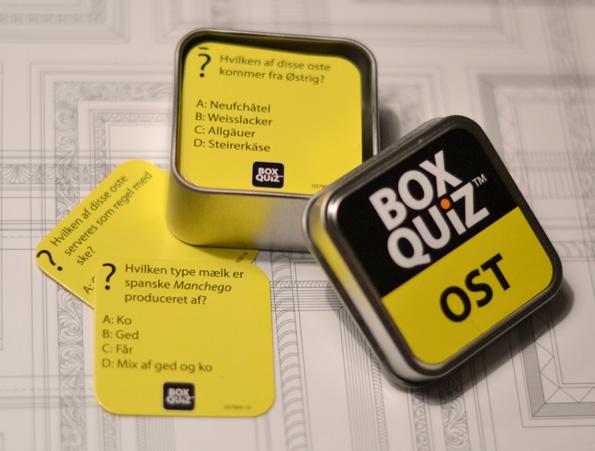 BoxQuiz om ost