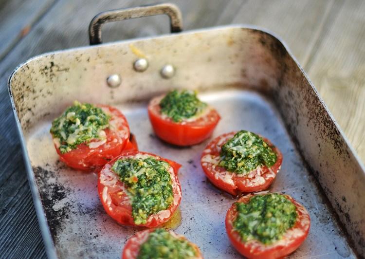 Grillede tomater med parmesan