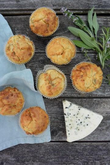 Muffins med danablu