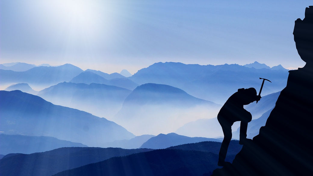 Bergsteiger, Berg, Erfolg