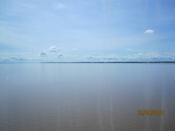 The mighty Amazon! Note clouds forming over land, not over the river.