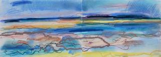 Bild 4 Insel bei Poel 80x30 cm