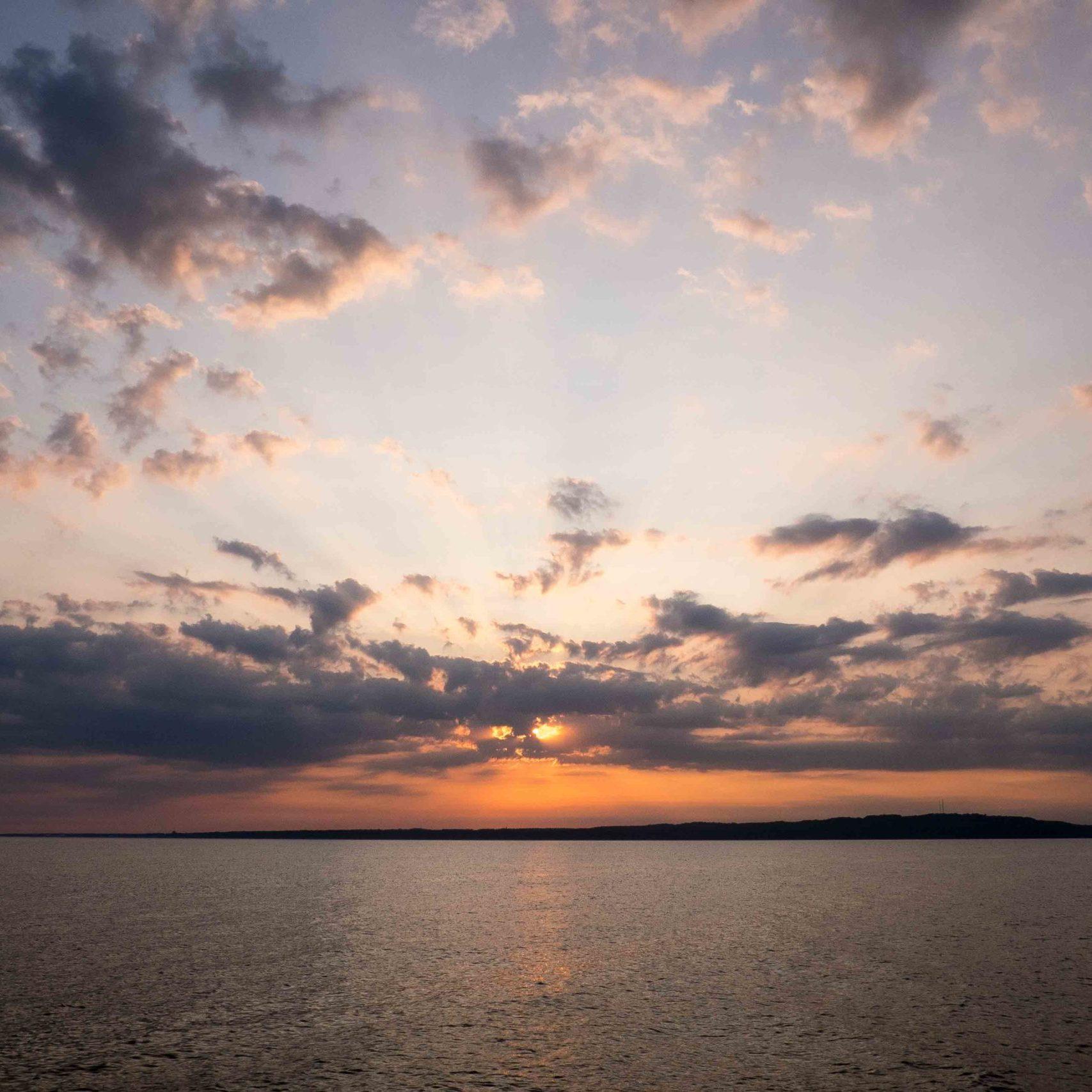 Hanö: ein eigentlich hübscher Sonnenuntergang
