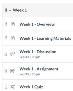 Week 1 module