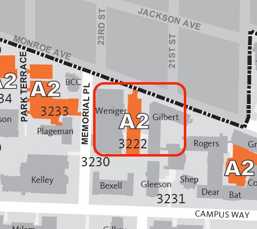 Parking lot #3222 (Weniger Hall East Lot)